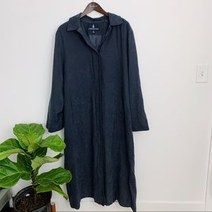 London Fog Blue Trench Coat Soft Material Size 12